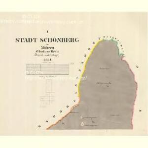 Schönberg - m3071-1-001 - Kaiserpflichtexemplar der Landkarten des stabilen Katasters