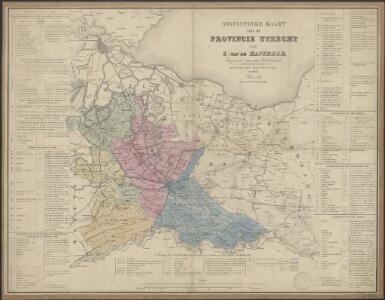 Statistieke kaart van de provincie Utrecht