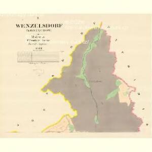 Welzelsdorf (Wostachow) - m3253-1-001 - Kaiserpflichtexemplar der Landkarten des stabilen Katasters