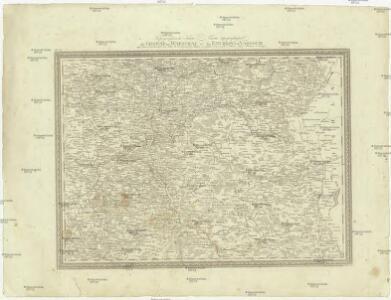 Topographische Karte der Gegend um Warschau