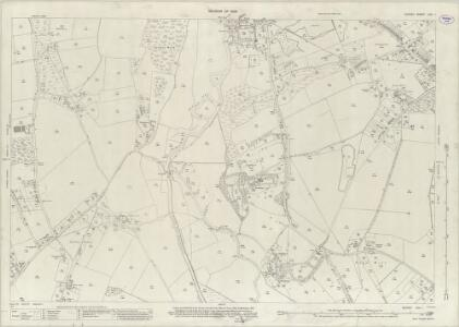 Surrey XXIV.1 (includes: Send; Woking) - 25 Inch Map