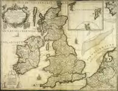 Les isles Britanniques comprenant les royaumes d'Angleterre, Ecosse et Irlande