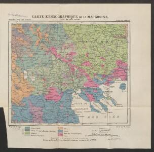 Carte ethnographique de la Macédoine, Point de vue serbe