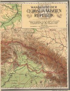 Wandkarte der Čechoslovakischen republik