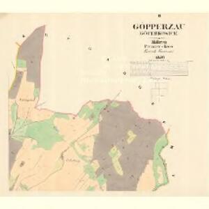 Göpperzau (Göperkowice) - m3193-3-002 - Kaiserpflichtexemplar der Landkarten des stabilen Katasters