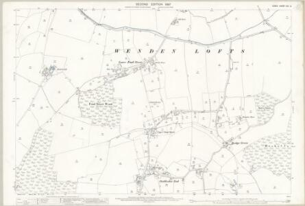 Essex (1st Ed/Rev 1862-96) VIII.6 (includes: Chrishall; Elmdon; Wendon Lofts) - 25 Inch Map