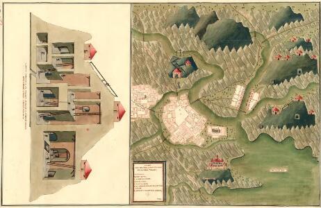Plan des in Ober Carnten Gold Bergwergs Velach