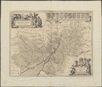 Glocestria Ducatus, cum Monumethensi Comitatu = Glocester Shire & Monmouth Shire