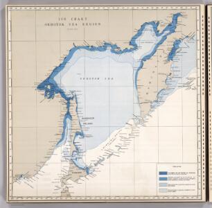 Ice Chart, Okhotsk Sea Region, January.