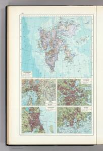 54.  Spitsbergen, Oslo, Stockholm, Copenhagen, Helsinki.  The World Atlas.