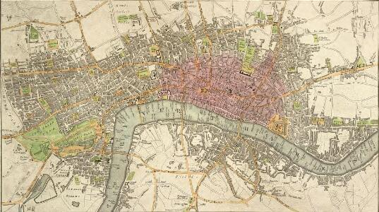 An IMPROVED PLAN of the CITIES of LONDON and WESTMINSTER and BOROUGH of SOUTHWARK, including the NEW BUILDINGS, ROADS &C.