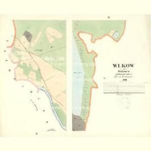Wlkow - c8705-1-003 - Kaiserpflichtexemplar der Landkarten des stabilen Katasters