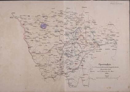 Operations-Karte für die Bewegung der alliirten und der ihr gegenüberstehenden Französischen Armee vom 7ten Februar bis 8ten März.