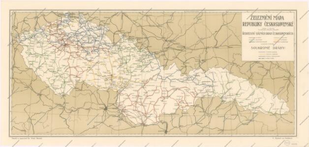 Zeleznicni Mapa Republiky Ceskoslovenske