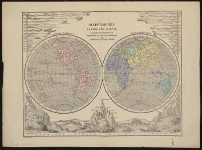Mappemonde en deux hémisphères