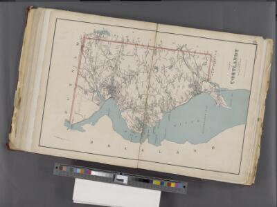 Westchester, Double Page Plate No. 25 [Map of Town of Cortlandt] / prepared under the direction of Joseph R. Bien, from general surveys and official records.