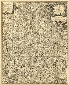 Bavariae Circulus atque Electoratus tam cum adiacentibus quam insertis Regionibus accuratissime in suas quasque Ditiones divisus