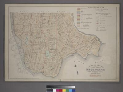 Outline and Index Map of the 23rd Ward, City of New York.