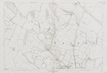 Somerset VII.16 (includes: Charlcombe; Kelston; North Stoke; Weston) - 25 Inch Map