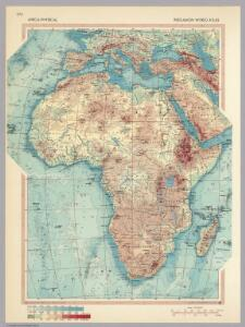 Africa - Physical.  Pergamon World Atlas.