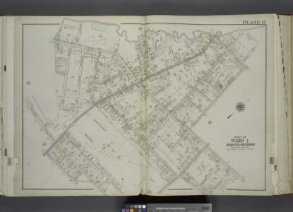 Part of Ward 1. [Map bound by Palmers Run, Spring St, Post Ave, Greenleaf Ave, Forest Ave (Cherry Lane), Brookside Ave, Egbert Ave,    Manor Road, Kingsley Ave (New York Ave), New York PL, Maine Ave, Jewett Ave,     College Ave (Indiana Ave)]