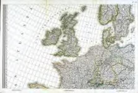 Carte d'Europe ou sont tracées les limites des empires, royaumes, et etats souverains, feuille 3