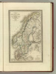 Carte du Royaume de Suede,Norwege et Danemarck.
