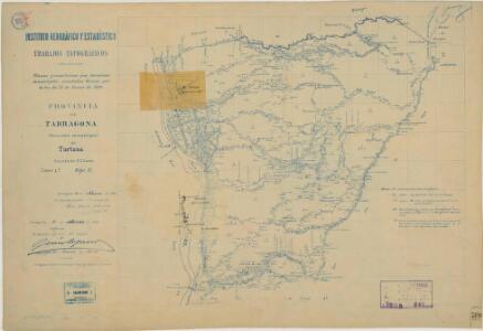 Mapa planimètric de Tortosa