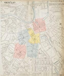 Insurance Plan of Sheffield (1888): Key Plan