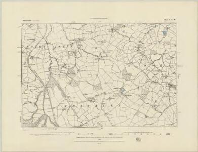 Worcestershire X.SE - OS Six-Inch Map