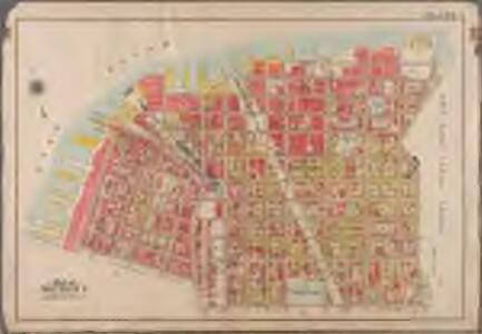 Plate 1: [Bounded by Plymouth Street, Washington Street, John Street, Bridge Street, Marshall Street, Little Street, Evans Street, Hudson Avenue (United States Navy Yard), Prospect Street, Navy Street, Tillary Street, Fulton Street, Clark Street, Furman Street (East River Piers), Water Street, and Dock Street]; Atlas of the borough of Brooklyn, city of New York: from actual surveys and official plans by George W. and Walter S. Bromley.