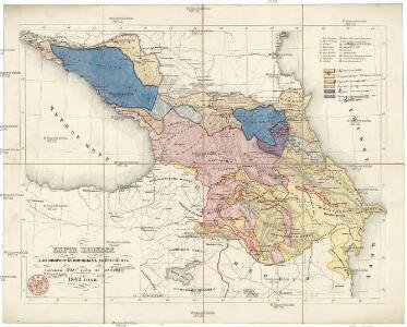 Karta Kavkaza dlja pojasnenija vojennych dějstvij ot načala 1838go goda po konec 1842 goda