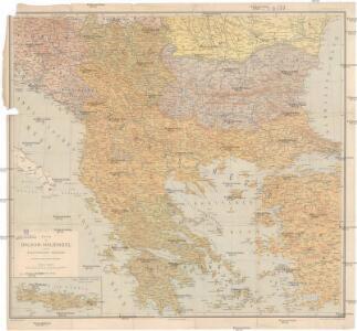 Karte der Balkan-Halbinsel und der angrenzenden Gebiete