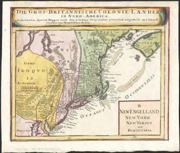 New Engelland, New York, New Yersey und Pensilvania
