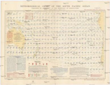 Meteorological chart of the South Pacific Ocean