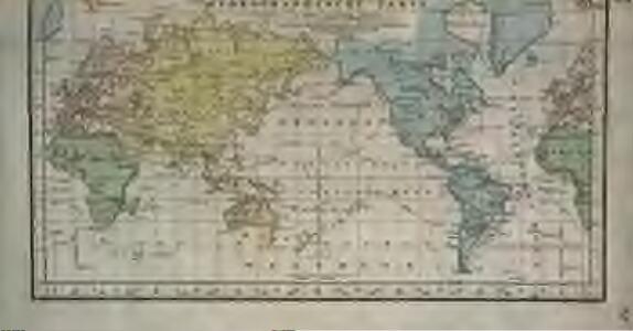 Hydrographische Carte der ganzen Welt