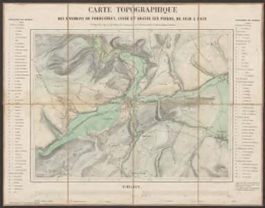Carte topographique des environs de Porrentruy