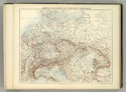 Carte Politique de L'Europe Centrale.