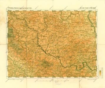 Podrobné mapy zemí Koruny české v měřítku 1:75.000 a mapa vzdáleností všech míst při silnici ležících - Hor. Planá - Vyšší Brod. Průvodce statisticko-historický po všech místech na těchto mapách uvedených a rejstřík věcný názvů hor, potoků, řek, rybníků atd. Sešit 26. List 48,
