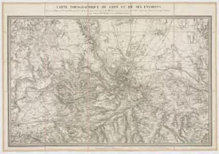 Carte topographique de Lyon et de ses environs