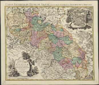 Sup.s et Inferioris ducatus Silesiae in suos XVII minores principatus et dominia divisi nova tabula