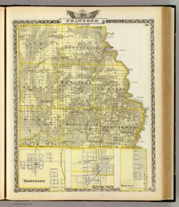 Map of Crawford County, Robinson, Kinmundy and Newton.