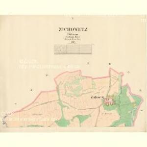 Zichowetz - c9437-1-001 - Kaiserpflichtexemplar der Landkarten des stabilen Katasters