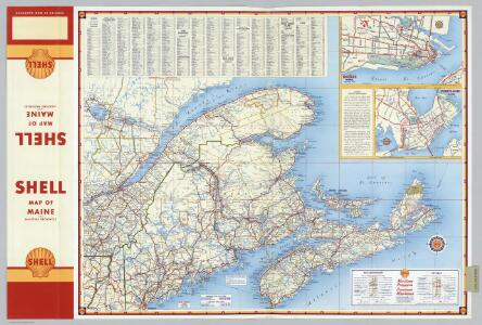 Various Regions and Cities in and around Maine including Canadian Maritime Provinces.