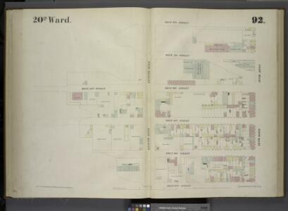 [Plate 92: Map bounded by West 32nd Street, Tenth Avenue, West 27th Street, Eleventh Avenue.]