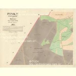 Pinke (Penkow) - m0051-1-003 - Kaiserpflichtexemplar der Landkarten des stabilen Katasters