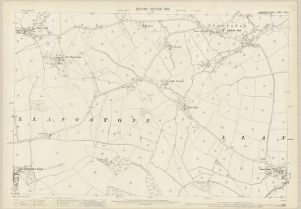 Monmouthshire XXIX.11 (includes: Bishopston; Cemais; Langstone; Llanfarthin) - 25 Inch Map