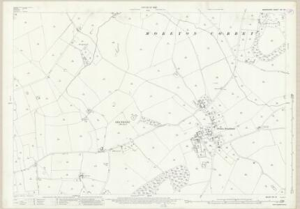 Shropshire XXI.12 (includes: Clive; Grinshill; Moreton Corbet; Shawbury) - 25 Inch Map