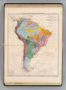 Carte physique de l'Amerique du Sud.
