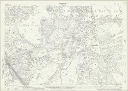 Kent VIII.14 (includes: Chislehurst and Sidcup) - 25 Inch Map
